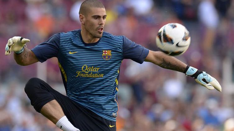Victor Valdes, sous les couleurs du FC Barcelone