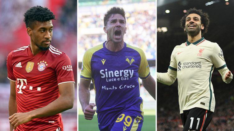 Kingsley Coman, Giovanni Simeone et Mohamed Salah ont brillé ce week-end sur les pelouses européennes. (D.R.)