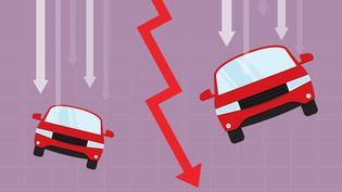 La filière automobile en souffrance.200000 postes aujourd'hui contre 260000 il y a une dizaine d'années.Et 100 000 pourraient disparaître d'ici 2035. (Illustration) (TOMMY / DIGITAL VISION VECTORS / GETTY IMAGES)