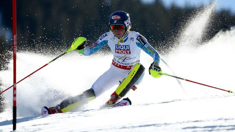 L'Américaine Mikaela Shiffrin est championne du monde de slalom.  (AL BELLO / GETTY IMAGES NORTH AMERICA)