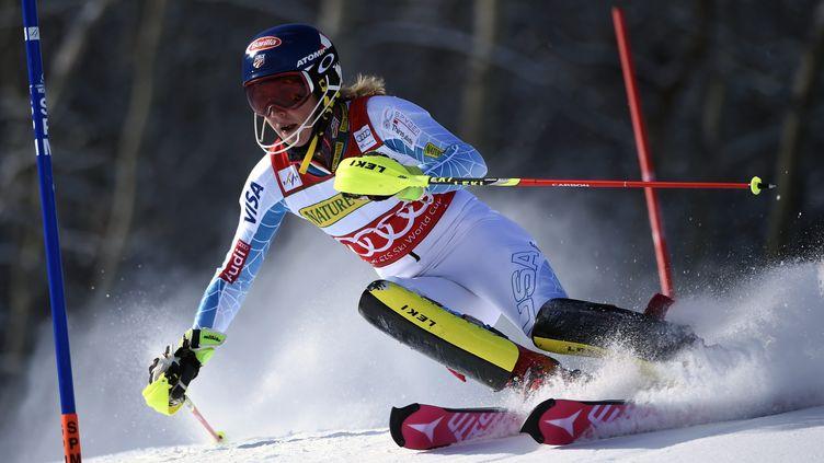 Mikaela Shiffrin, la reine du slalom (JOHN G. MABANGLO / EPA)