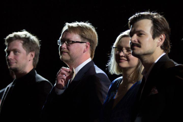 """Deuxième à partir de la gauche le réalisateur d'""""Oleg"""", Juris Kursietis (JEAN-FRANCOIS LIXON)"""