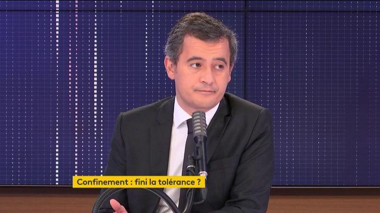 Gérald Darmanin était l'invité de franceinfo vendredi 13 novembre 2020. (FRANCEINFO / RADIOFRANCE)