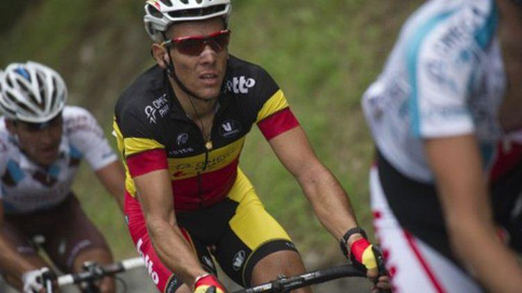 Philippe Gilbert dans les Pyrénées (LIONEL BONAVENTURE / AFP)