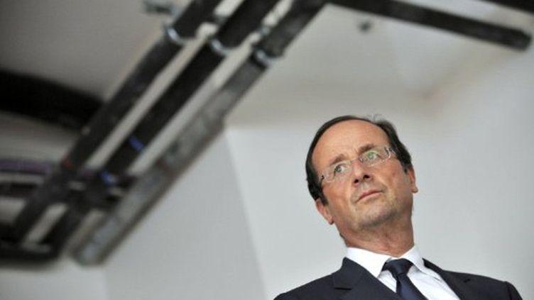 François Hollande à l'inauguration de la nouvelle unité d'urgence de l'hôpital de Tulle (REMY GABALDA / AFP)