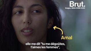 """VIDEO. """"Ma mère, elle me crache dessus, elle me dit """"tu me dégoûtes, t'aimes les femmes"""""""", témoigne Amal (BRUT)"""