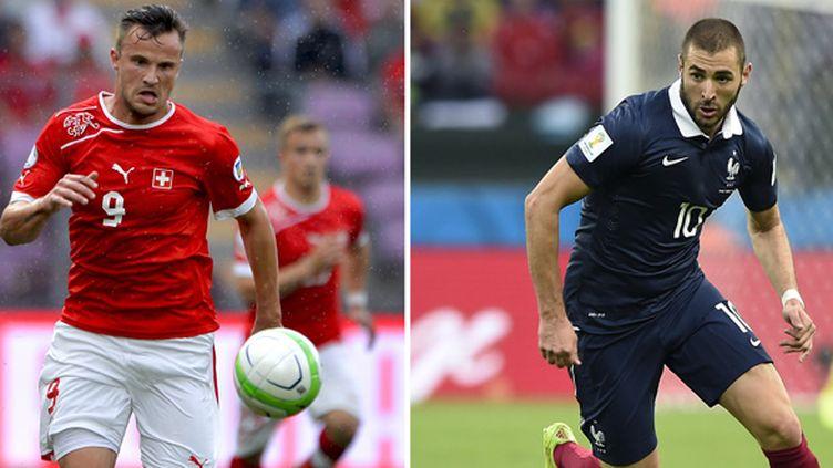 Duel de buteur à venir ce soir entre Haris Seferovic et Karim Benzema. (FABRICE COFFRINI / AFP)
