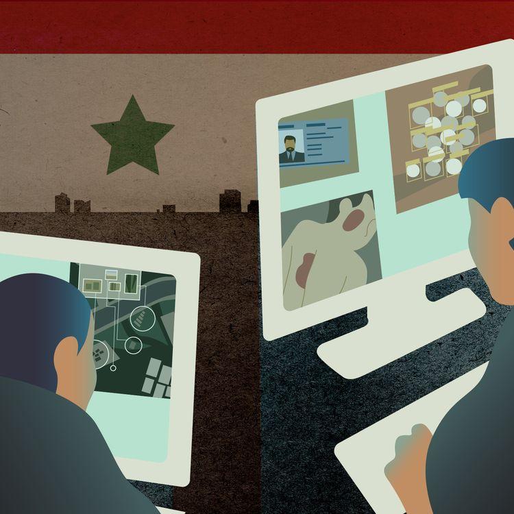 Des exilés syriens, aidés d'ONG, collectent et analysent des données pour recouper les informations sur des crimes de guerre en Syrie et traquer leurs auteurs. (JESSICA KOMGUEN / FRANCEINFO)