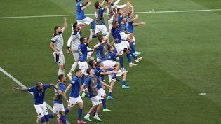 L'Italie a assuré la première place du groupe A en battant le pays de Galles à Rome. (RYAN PIERSE / POOL)