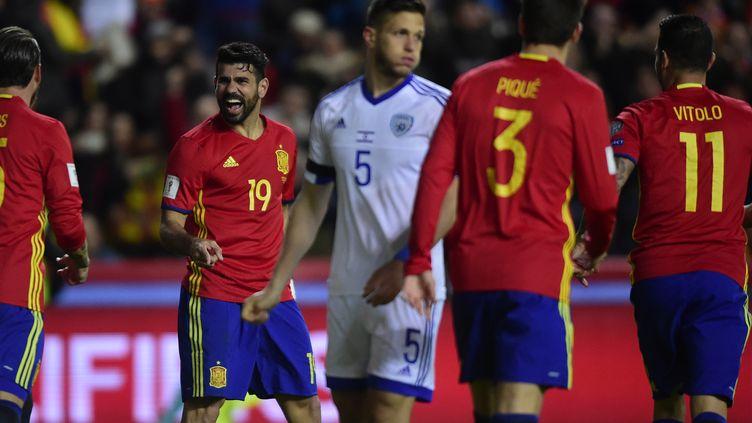 Les Espagnols ont dominé Israël (MIGUEL RIOPA / AFP)