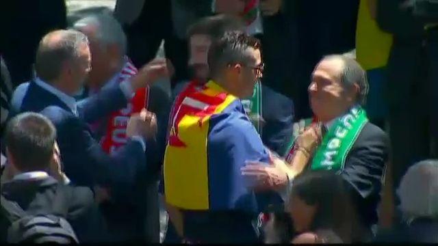 La sélection portugaise championne d'Europe parade dans les rues de Lisbonne