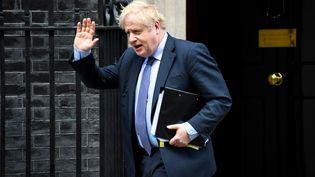 Le Premier ministre britannique Boris Johnson, le 12 février 2020 à Londres (Royaume-Uni). (ALBERTO PEZZALI / NURPHOTO / AFP)