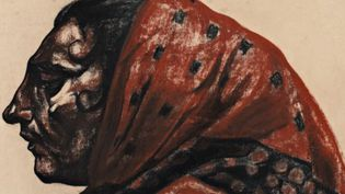 Georges Dorignac, Paysanne au fichu (détail), 1913.  (Collection particulière / Courtoisie Mathieu Néouze)