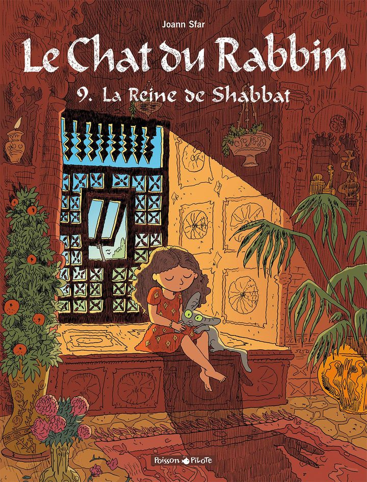 """Couverture """"Le chat du Rabbin, tome 9. La reine de Shabbat"""", de Joann Sfar (DARGAUD)"""