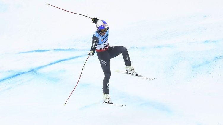 Alexis Pinturault chahuté par la piste (JOE KLAMAR / AFP)