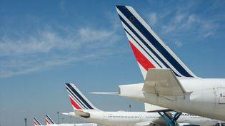 Des avions posés à l'aéroport de Roissy (Val-d'Oise), le 28 avril 2021. (SANDRINE MARTY / HANS LUCAS / AFP)