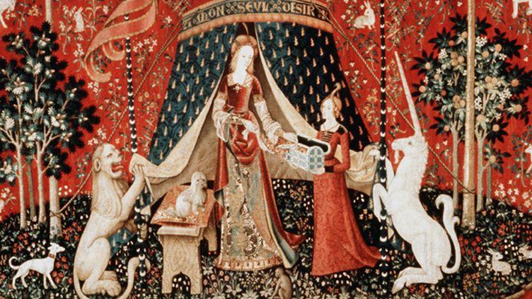 "La sixième tapisserie de ""La Dame à la Licorne""  (ZENOBEL/SIPA)"