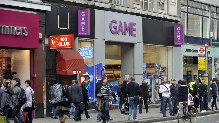 Un magasin du groupe Game à Londres (Royaume-Uni), le 28 septembre 2010. (MAXPPP)