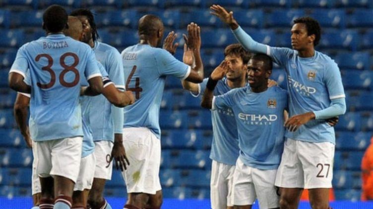 Les joueurs de Manchester City