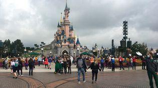 Le parc d'attractions Disneyland Paris, à Marne-la-Vallée, près de Paris, le 15 juillet 2020. (AURELIA MOUSSLY / AFP)