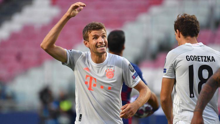 Thomas Müller a été déterminant dans l'humiliation infligée au Barça. (FRANK HOERMANN / SVEN SIMON/VIA / AUGENKLICK/FOTOAGENTUR SVEN SIMO)