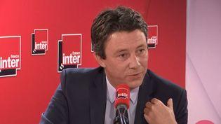 Benjamin Griveaux, candidat LREM à la mairie de Paris, invité de France Inter le 13 janvier 2020. (FRANCE INTER / RADIO  FRANCE)
