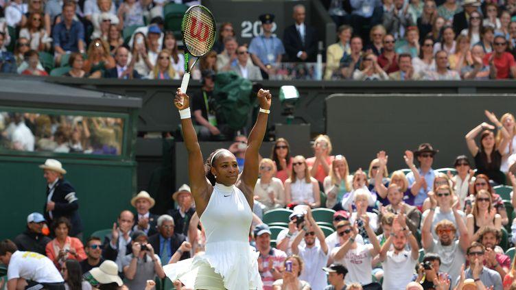 Serena Williams à l'aise à Wimbledon  (GLYN KIRK / AFP)