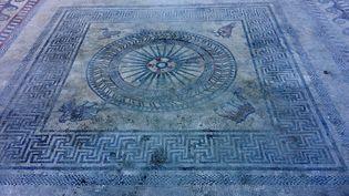 Mosaïque du Ier siècle découverte à Uzès, Gard  (P. H.)