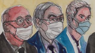 L'affaire des sondages de l'Elysée est portée au tribunal correctionnel, lundi 18 octobre. Des proches de Nicolas Sarkozy, dont Claude Guéant et Patrick Buisson, sont jugés depuis le début de la journée. (CAPTURE D'ÉCRAN FRANCE 3)