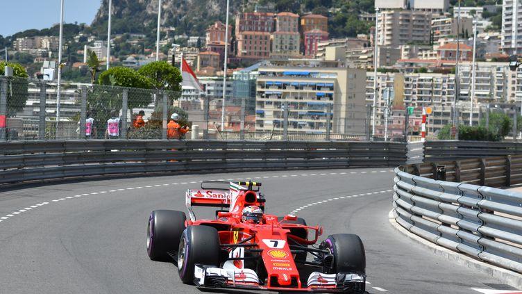 Le Finlandais Kimi Rakkonen au volant de sa Ferrari (PASCAL GUYOT / AFP)