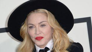 La chanteuse américaine Madonna, le 26 janvier 2014 à Los Angeles (Etats-Unis) lors des Grammy Awards. (ROBYN BECK / AFP)
