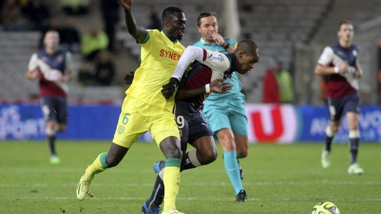 Diego Rolan (Girondins de Bordeaux) et Remi Gomis (FC Nantes) (EDDY LEMAISTRE / 2PIX-EL)
