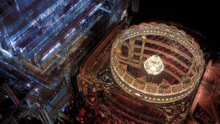 """Visuel extrait du film """"Clinamen"""" de Hugo Arcier pour la 3ème scène (Opéra National de Paris)"""