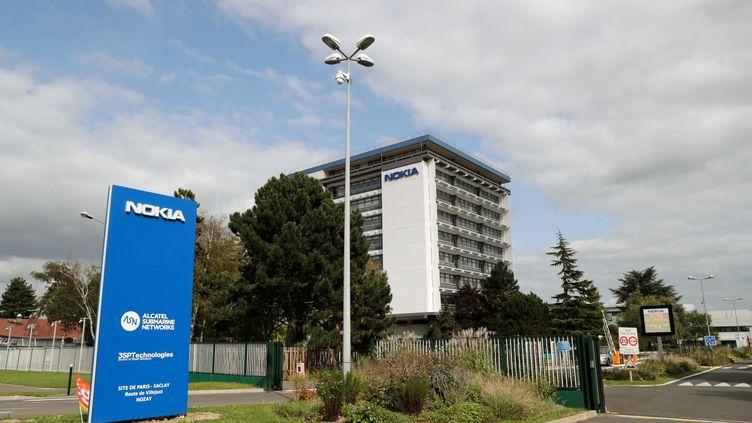 Le site de Nokia à Saclay (Essonne). (THOMAS SAMSON / AFP)