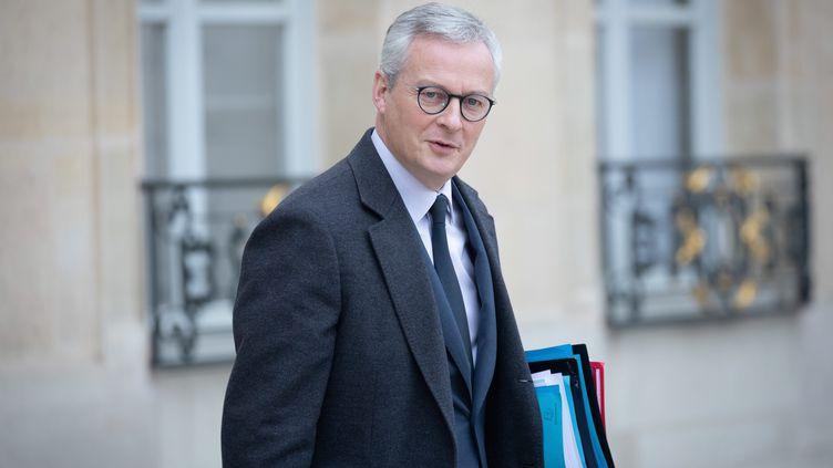 Bruno Le Maire, le ministre de l'Economie, à Paris, le 5 décembre 2019. (FRED DUGIT / MAXPPP)