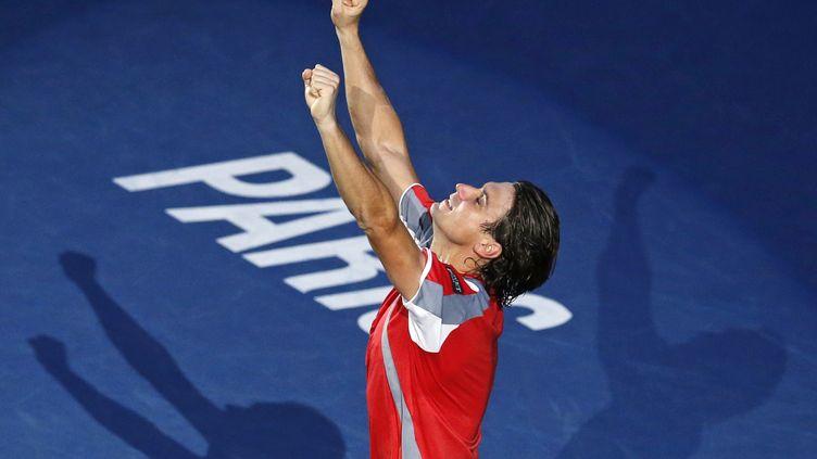 L'Espagnol David Ferrer, lors de sa victoire au Masters de Bercy, à Paris, le 4 novembre 2012. (BENOIT TESSIER / REUTERS)