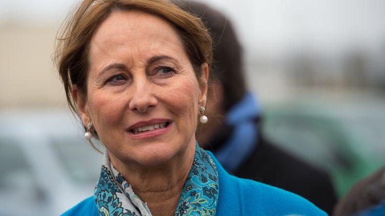 La ministre de l'EnvironnementSégolène Royal, le 26 février 2017, à Boulogne-sur-Mer (Pas-de-Calais). (PHILIPPE HUGUEN / AFP)