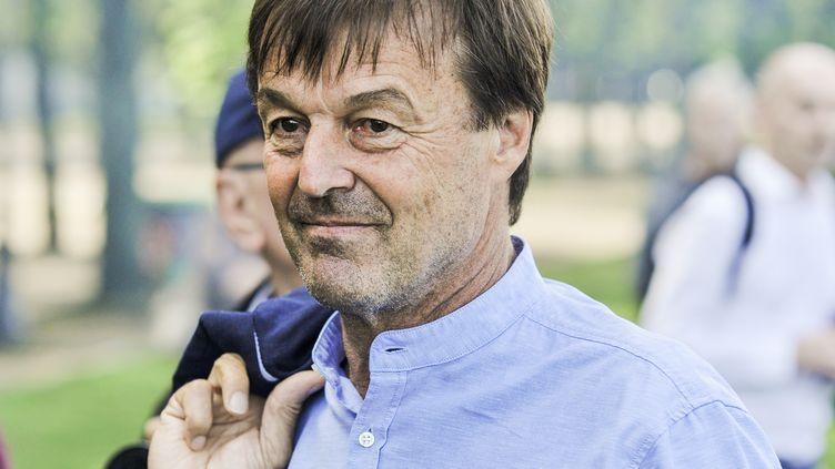 Le ministre de la Transition écologique et solidaire, Nicolas Hulot, le 7 juin 2018 à Paris. (ARTHUR HERVE / REA)