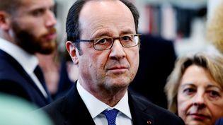Francois Hollande à Vitry-le-François, dans l'Est de la France le 7 mars 2017. (FRANCOIS NASCIMBENI / AFP)