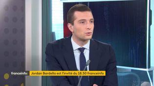 Jordan Bardella, candidat du Rassemblement National aux élections régionales en Île-de-France. (CAPTURE D'ECRAN / DAILYMOTION)