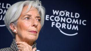 La patronne du FMI Christine Lagarde à Davos en Suisse, le 21 janvier 2019. (FABRICE COFFRINI / AFP)