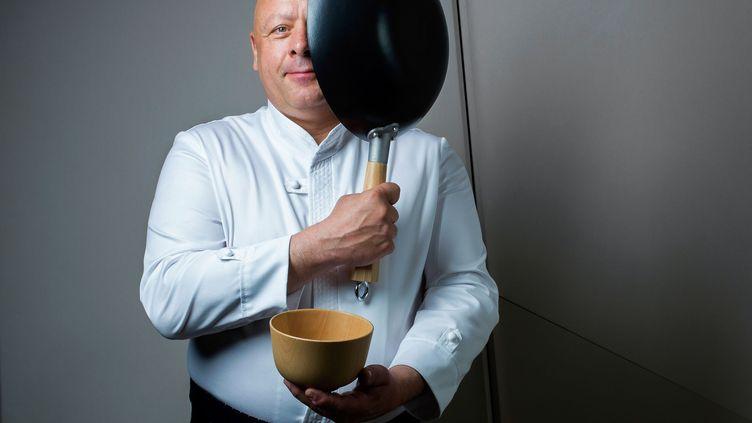 Thierry Marx, lecélèbre chef étoilé duMandarin Oriental, à Paris, le 28 janvier 2016. (PHOTO12 / DAMIEN GRENON)