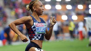 Renelle Lamote lors des qualifications pour le 800 m, lors des championnats européens à Berlin (Allemagne), le 8 août 2018. (PHILIPPE MILLEREAU / DPPI MEDIA / AFP)