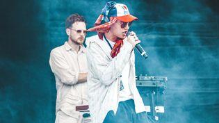 Le rappeur anglais Barny Fletcher se produit sur scène à l'occasion du festival Lollapalooza Paris, le 20 juillet 2019. (TaP Music)