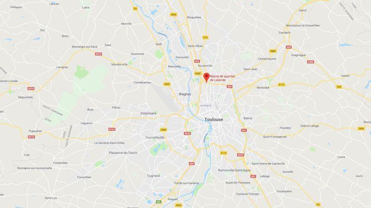L'agression a eu lieu dans le quartier Lalande, au nord de Toulouse. (CAPTURE ECRAN GOOGLE MAPS)