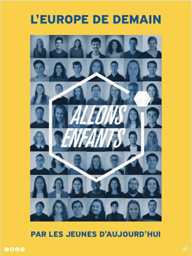 L'affiche de la listeAllons enfants pour les européennes 2019. (FRANCEINFO)