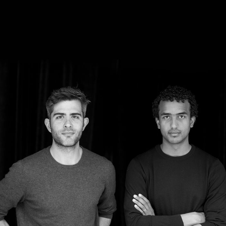 Mansour Badjoko (à droite) et Martin Liesnard, les créateurs du label Mansour Martin (Thierry Balasse)