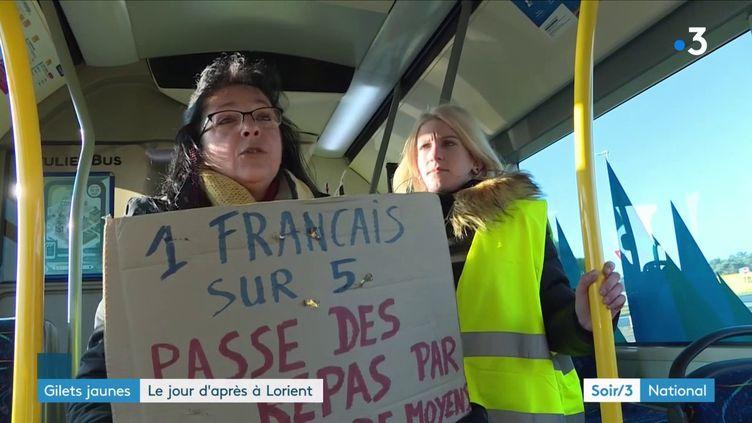 """Des """"gilets jaunes"""" à Lorient (Morbihan) (France 3)"""