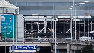 L'aéroport de Bruxelles (Belgique) a été touché par un double attentat-suicide, le22 mars 2016. (IRINA KALASHNIKOVA / RIA NOVOSTI / AFP)