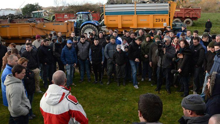 (Comme à Vannes lundi, les agriculteurs comptent démontrer leur colère à Rennes ce mercedi © MaxPPP)